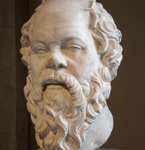 A bust of Socrates from the Louvre