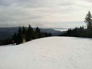 A view from the slopes at Snowshoe, WV