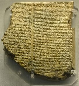 A piece of the Epic of Gilgamesh containing a flood narrative.