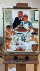 Recreation of some Norman Rockwell (in progress)