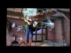 Luigi gets pixelated frequently