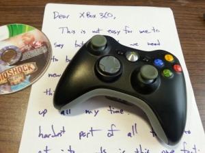 A Dear John letter...