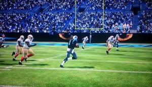 Cam runs for a first down